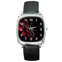 Pattern Design Abstract Background Square Metal Watch