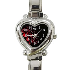Pattern Design Abstract Background Heart Italian Charm Watch