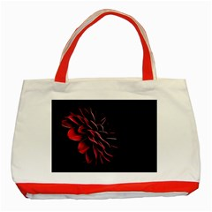Pattern Design Abstract Background Classic Tote Bag (red) by Nexatart