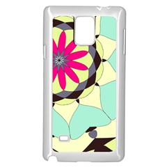 Pink Flower Samsung Galaxy Note 4 Case (white) by theunrulyartist