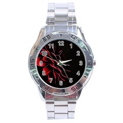 Pattern Design Abstract Background Stainless Steel Analogue Watch