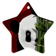 Panda Ornament (star) by Valentinaart
