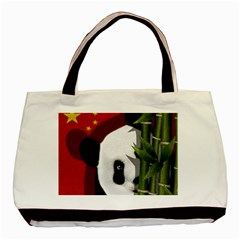 Panda Basic Tote Bag (two Sides) by Valentinaart