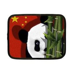 Panda Netbook Case (small)  by Valentinaart