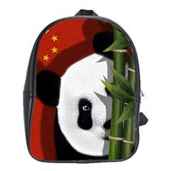 Panda School Bags(large)  by Valentinaart