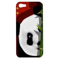 Panda Apple Iphone 5 Hardshell Case by Valentinaart