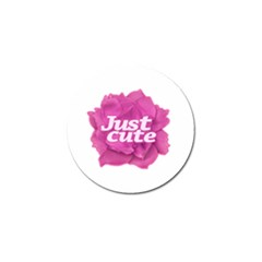 Just Cute Text Over Pink Rose Golf Ball Marker by dflcprints