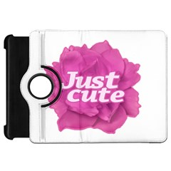 Just Cute Text Over Pink Rose Kindle Fire Hd 7  by dflcprints