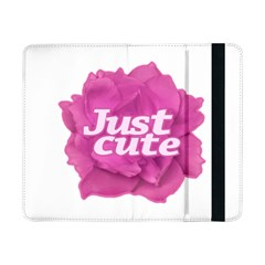 Just Cute Text Over Pink Rose Samsung Galaxy Tab Pro 8 4  Flip Case by dflcprints