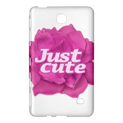 Just Cute Text Over Pink Rose Samsung Galaxy Tab 4 (7 ) Hardshell Case  by dflcprints