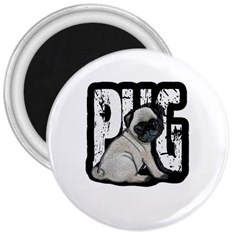 Pug 3  Magnets by Valentinaart