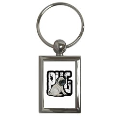Pug Key Chains (rectangle)  by Valentinaart