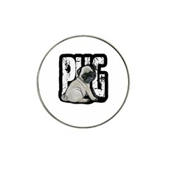 Pug Hat Clip Ball Marker (4 Pack) by Valentinaart