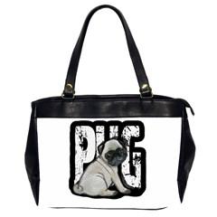 Pug Office Handbags (2 Sides)  by Valentinaart