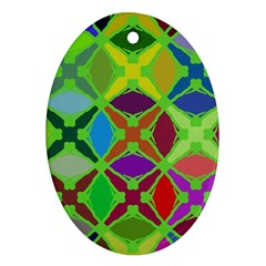 Abstract Pattern Background Design Ornament (oval)