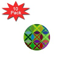 Abstract Pattern Background Design 1  Mini Magnet (10 Pack)