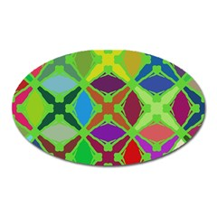 Abstract Pattern Background Design Oval Magnet by Nexatart