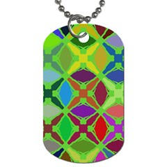 Abstract Pattern Background Design Dog Tag (one Side)