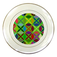 Abstract Pattern Background Design Porcelain Plates by Nexatart
