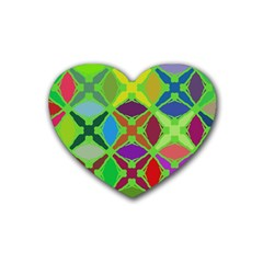 Abstract Pattern Background Design Rubber Coaster (heart)