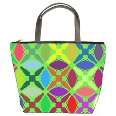 Abstract Pattern Background Design Bucket Bags