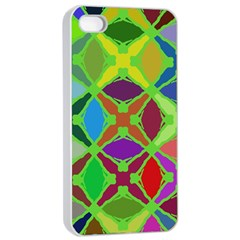 Abstract Pattern Background Design Apple Iphone 4/4s Seamless Case (white)