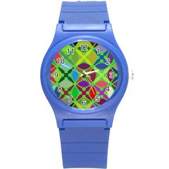 Abstract Pattern Background Design Round Plastic Sport Watch (s) by Nexatart