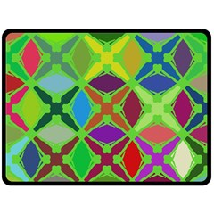 Abstract Pattern Background Design Double Sided Fleece Blanket (large)