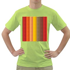 Abstract Pattern Background Green T Shirt