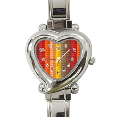 Abstract Pattern Background Heart Italian Charm Watch by Nexatart