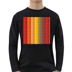 Abstract Pattern Background Long Sleeve Dark T Shirts