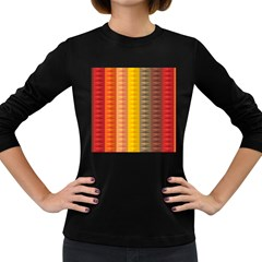 Abstract Pattern Background Women s Long Sleeve Dark T Shirts