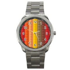 Abstract Pattern Background Sport Metal Watch by Nexatart