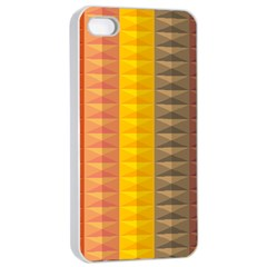 Abstract Pattern Background Apple Iphone 4/4s Seamless Case (white)