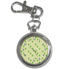 Christmas Wrapping Paper Pattern Key Chain Watches by Nexatart