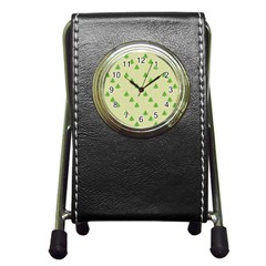 Christmas Wrapping Paper Pattern Pen Holder Desk Clocks