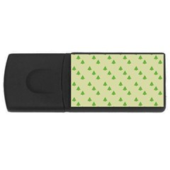 Christmas Wrapping Paper Pattern Usb Flash Drive Rectangular (4 Gb) by Nexatart