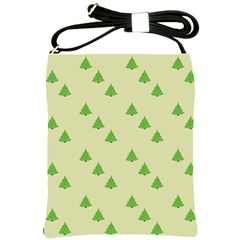 Christmas Wrapping Paper Pattern Shoulder Sling Bags by Nexatart