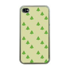 Christmas Wrapping Paper Pattern Apple Iphone 4 Case (clear)