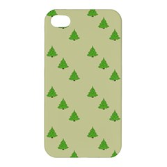 Christmas Wrapping Paper Pattern Apple Iphone 4/4s Hardshell Case by Nexatart