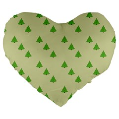 Christmas Wrapping Paper Pattern Large 19  Premium Heart Shape Cushions
