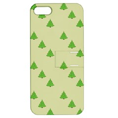 Christmas Wrapping Paper Pattern Apple Iphone 5 Hardshell Case With Stand