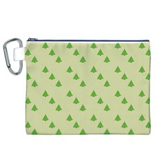 Christmas Wrapping Paper Pattern Canvas Cosmetic Bag (xl) by Nexatart