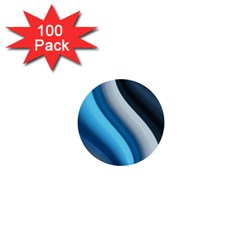 Abstract Pattern Lines Wave 1  Mini Buttons (100 Pack)