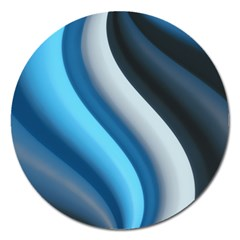 Abstract Pattern Lines Wave Magnet 5  (round) by Nexatart