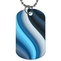 Abstract Pattern Lines Wave Dog Tag (one Side) by Nexatart