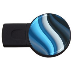 Abstract Pattern Lines Wave Usb Flash Drive Round (2 Gb) by Nexatart