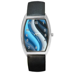 Abstract Pattern Lines Wave Barrel Style Metal Watch by Nexatart