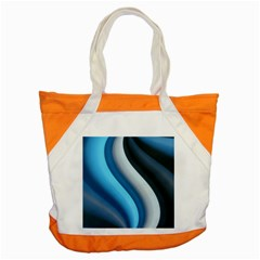 Abstract Pattern Lines Wave Accent Tote Bag by Nexatart