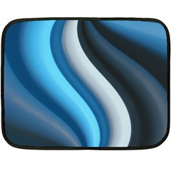 Abstract Pattern Lines Wave Double Sided Fleece Blanket (mini)  by Nexatart